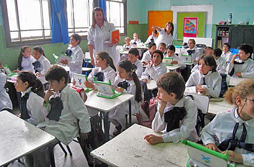 Escuela uruguaya. Foto: Banco Mundial.