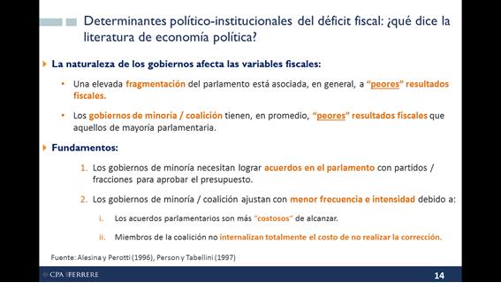 Determinantes políticos de la economía fiscal, por Gabriel Oddone