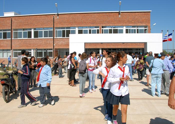 Liceo de San Luis, en Canelones. Foto: Presidencia.