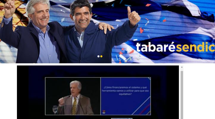 Vázquez presentó las propuestas del capítulo de Seguridad Social. Foto: Frente Amplio TV.