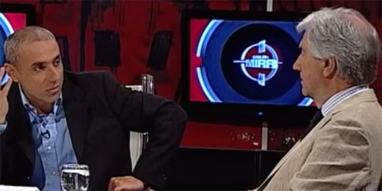 Tabaré Vázquez en En La Mira, de VTV, diciembre de 2013. Foto: YouTube.