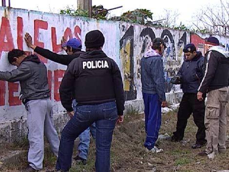 Operativo Policial. Fuente: Subrayado.
