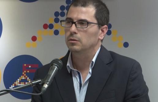 """Juan Andrés Roballo en """"Hablemos en serio"""". Foto: FrenteAmplioTV"""