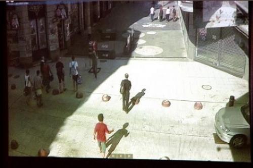 Sistema de videovigilancia por saturación de la Ciudad Vieja, Montevideo. Foto: Municipio B.