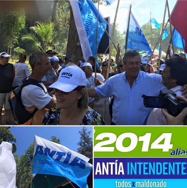 Campaña de Enrique Antía 2015. Foto: Twitter.