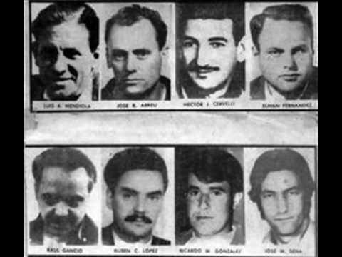 Fotografía de los fusilados de la seccional 20. Foto: Youtube.