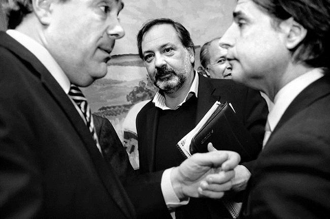 Bordaberry, Lacalle Pou y Gandini. Foto: La Diaria.