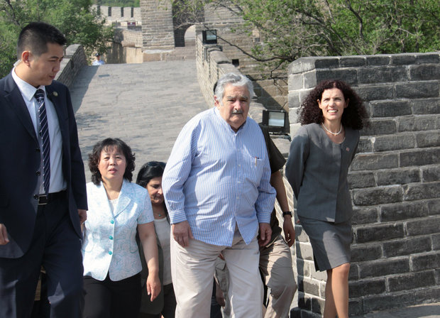 Mujica en China. Foto: Montevideo Portal.