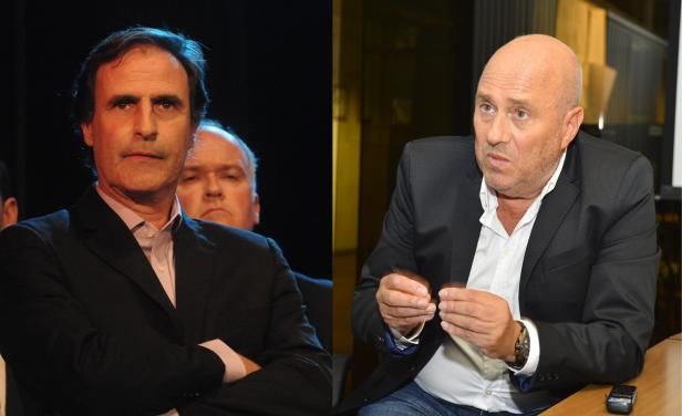 Candidatos del Partido de la Concertación, Álvaro Garcé y Edgardo Novick. Foto: El País.