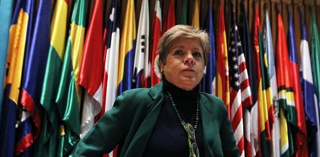 Secretaria ejecutiva de CEPAL, Alicia Bárcenas. Foto: La Nación.