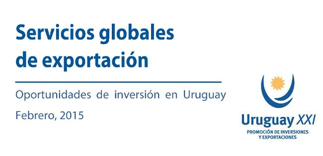 Carátula del informe de servicios globales de Uruguay XXI. Fuente: Uruguay XXI.