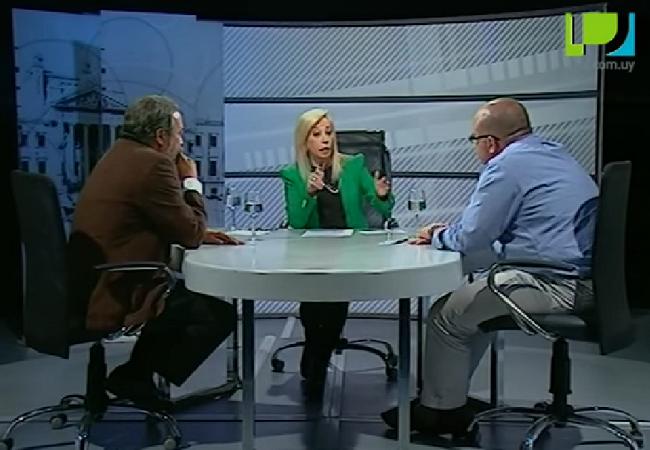 """Debate entre candidatos al municipio CH de Montevideo. Foto: Youtube de """"Sonia Entrevista""""."""