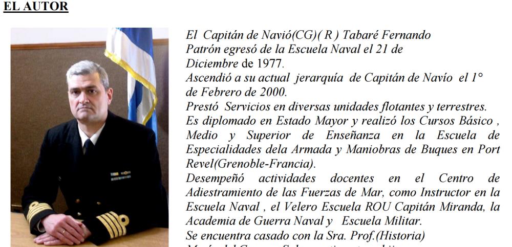 Capitán de Navío Tabaré Fernando Patrón. Foto: Fundación Wilson Ferreira.