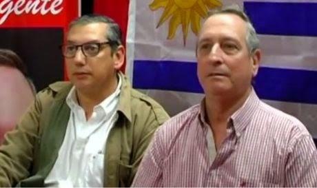 Intendente de Florida Carlos Enciso junto a Director de Administración y Seguridad José Pedro Delgado. Foto: Noticias Florida Online.