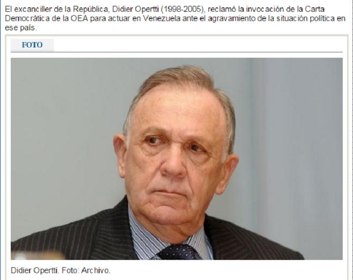 Didier Opertti en El País. Foto: archivo El País.