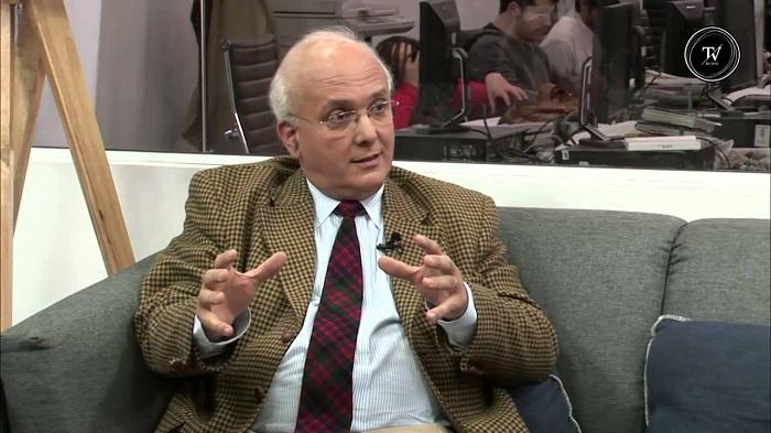 Gustavo Licandro, entrevistado por Observador TV. Foto: YouTube Observador TV.
