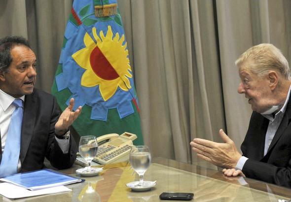 Daniel Scioli con el economista Miguel Bein.