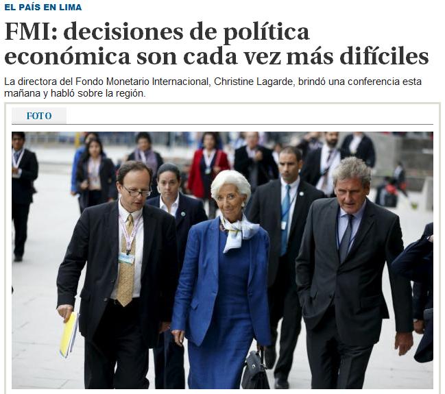 """""""Decisiones de política económica son cada vez más difíciles"""". Foto: El País."""