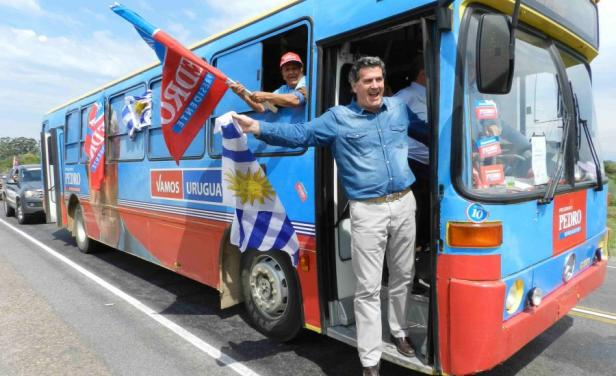 Pedro Bordaberry en campaña. Foto: El País.