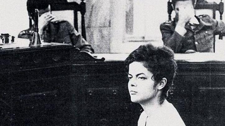 Rousseff juzgada por tribunal del golpe de Estado militar, en 1970. Foto: teinteresa.es