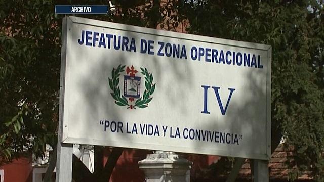 Cartel de la zona operacional cuatro, imagen de Telemundo