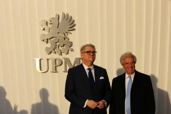 Jussi Pesonen y Tabaré Vázquez, en Helsinki. Foto: El País.