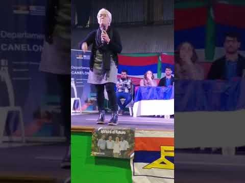 Graciela Villar en campaña interna, junio de 2019. Foto: Youtube.
