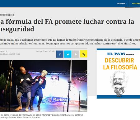Nota de El País. Foto: captura de web.